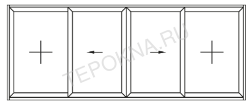 схема открывания смувио (2 вариант) теплые окна