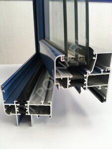Двухсторонняя покраска алюминиевых окон от компании теплые окна